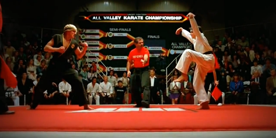 ... do Karate Kid Momento da Verdade