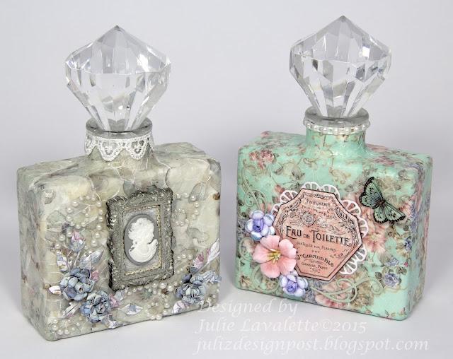 Juliz Design Post Up Cycled Perfume Bottles Craft Consortium