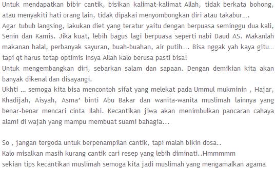 Resep Kecantikan Muslimah yang Alami