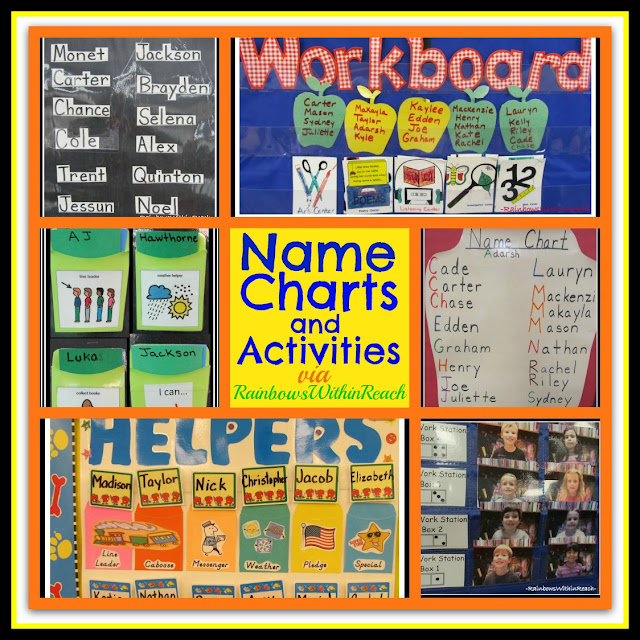 photo of: Name Charts, Name Recognition, Name Activities (RoundUP via RainbowsWithinReach)