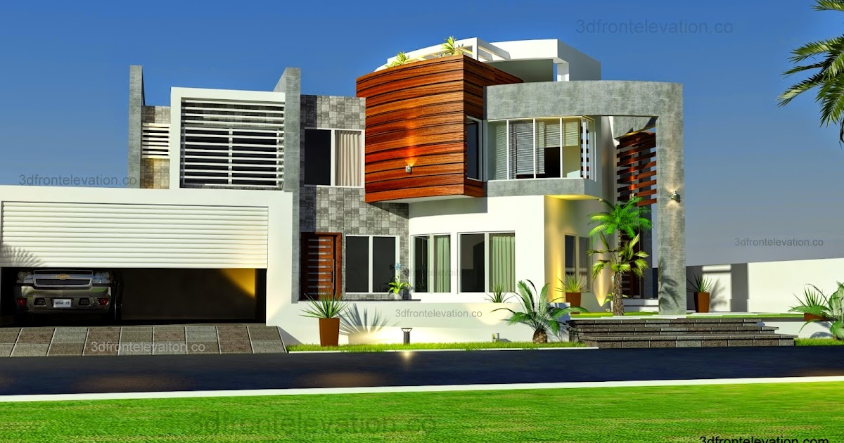 3d front oman modern contemporary villa 3d for Modern house uae