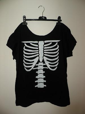 diy wildfox szkielet punk koszulka moda blog