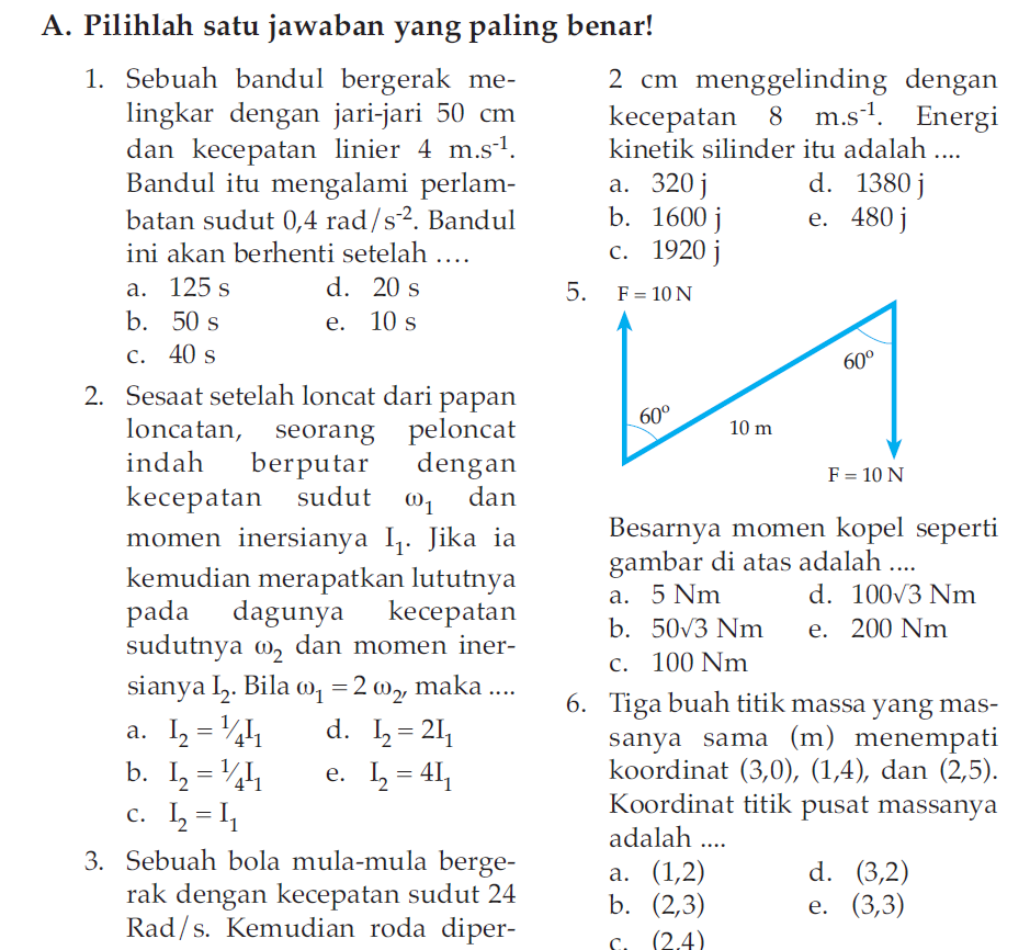 Soal Ukk Uas Fisika Kelas X Xi Semester 2 Genap