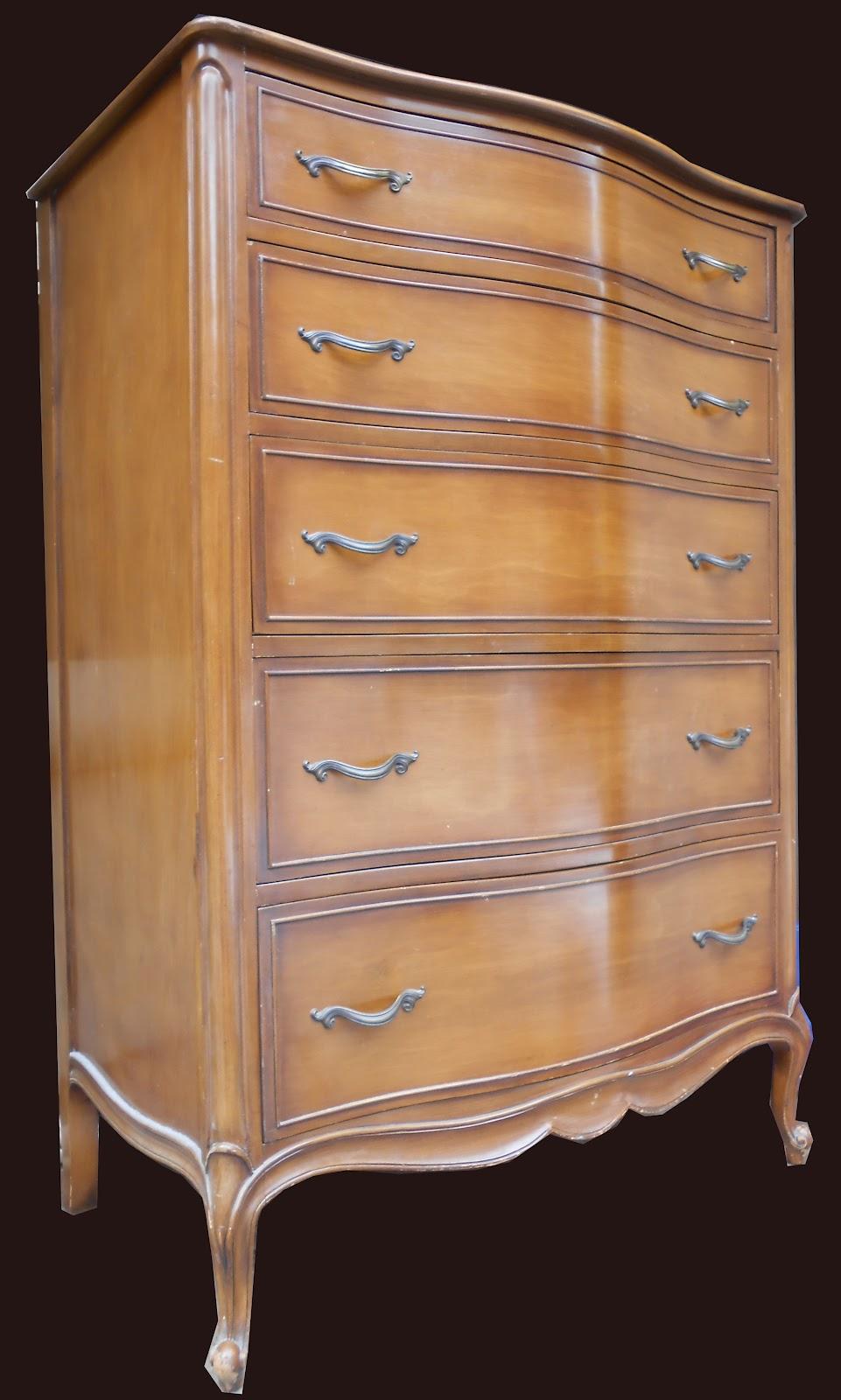 Uhuru furniture collectibles french walnut bedroom sold for Walnut bedroom furniture