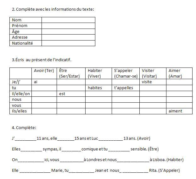 exercices de francais de 7eme annee pdf