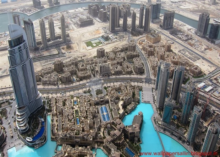 top view from burj khalifa dubai