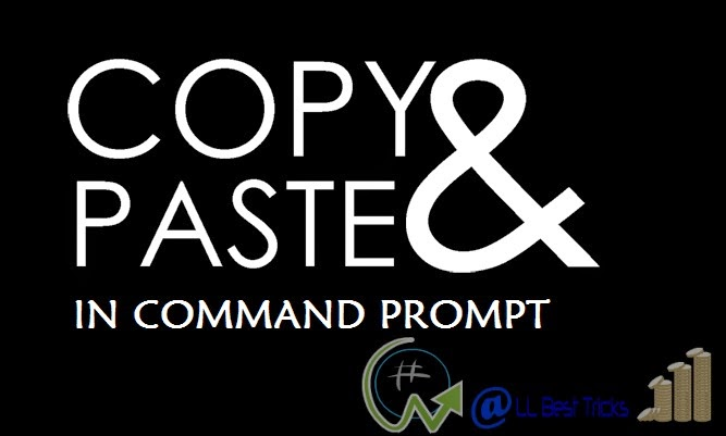 Enable copy and paste in command prompt