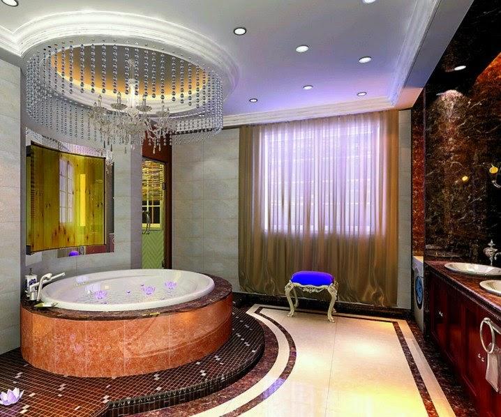 ديكور أسقف حمامات