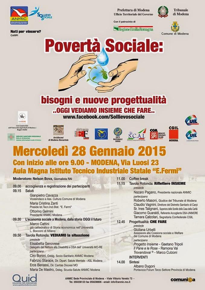 """SoSConvegno """"Povertà Sociale - bisogni e nuove progettualità"""""""