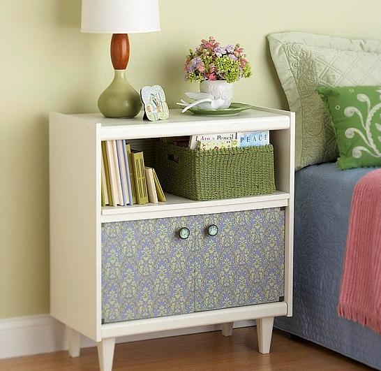 How to update furniture with wallpapers,update furniture, Home decorating ideas