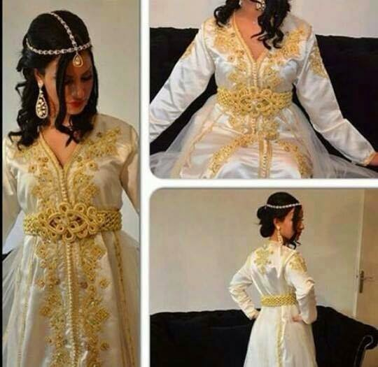 Caftan Marocain Luxe  2015 caftan-blanc-top-cre