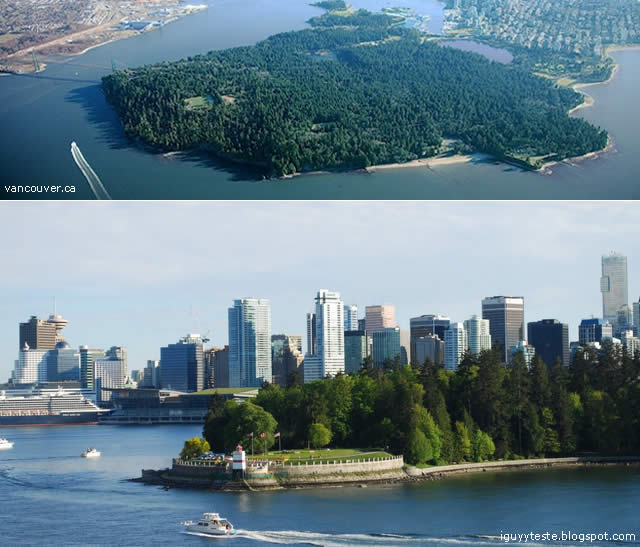 Stanley Park - urban park in Vancouver, Canada