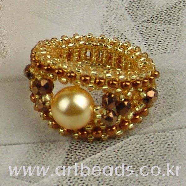 Обручальное кольцо из бисера своими руками