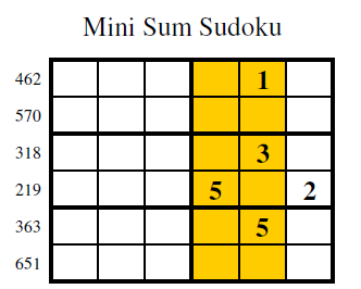 Sum Sudoku (Mini Sudoku Series #9)