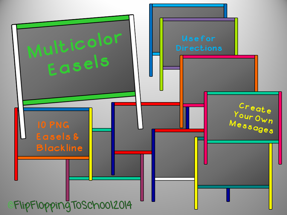 http://www.teacherspayteachers.com/Product/Multicolor-Easel-Chalkboard-Clipart-for-Personal-and-Commercial-Use-1351733