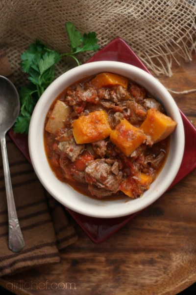 Lamb and Buttternut Squash Stew | www.girlichef.com