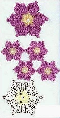 crochê floral