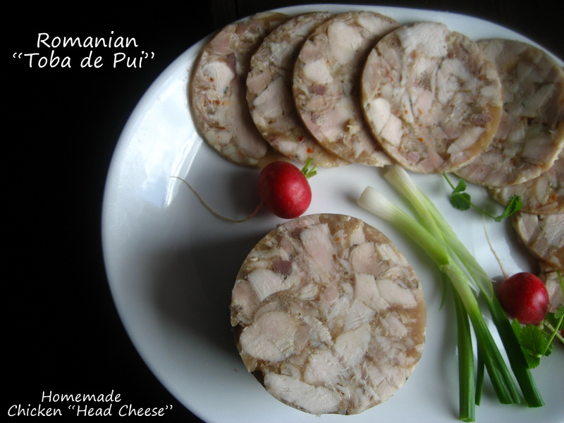 Home cooking in montana romanian homemade chicken head cheese romanian homemade chicken head cheese or toba de pui forumfinder Choice Image