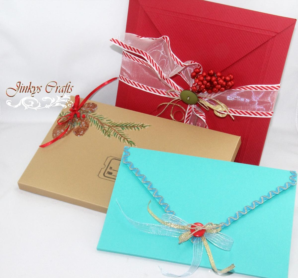 Jinkys Crafts Designs DIY 3D Envelopes Flashback Sunday