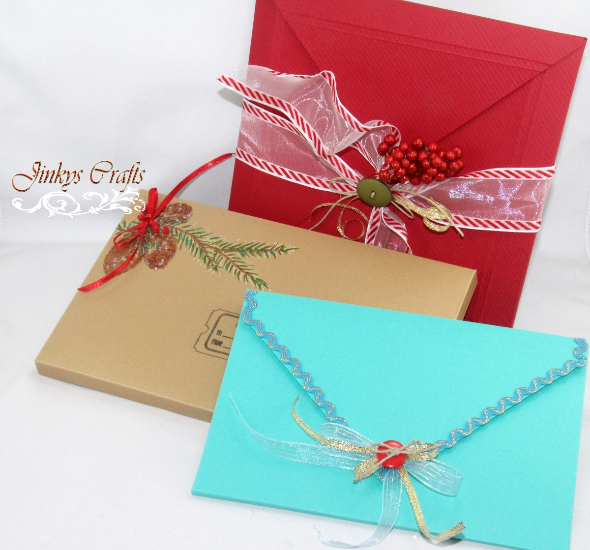 Diy 3d christmas envelopes jinkys crafts bookmarktalkfo