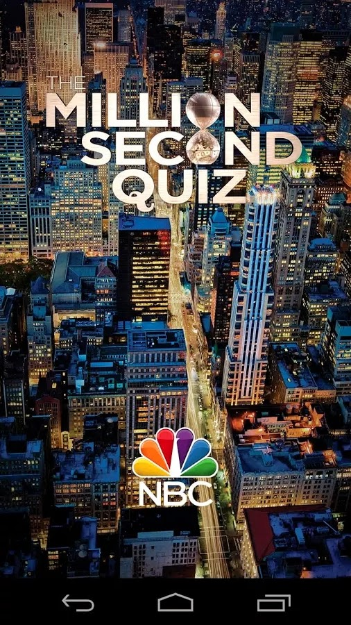 Million Second Quiz app