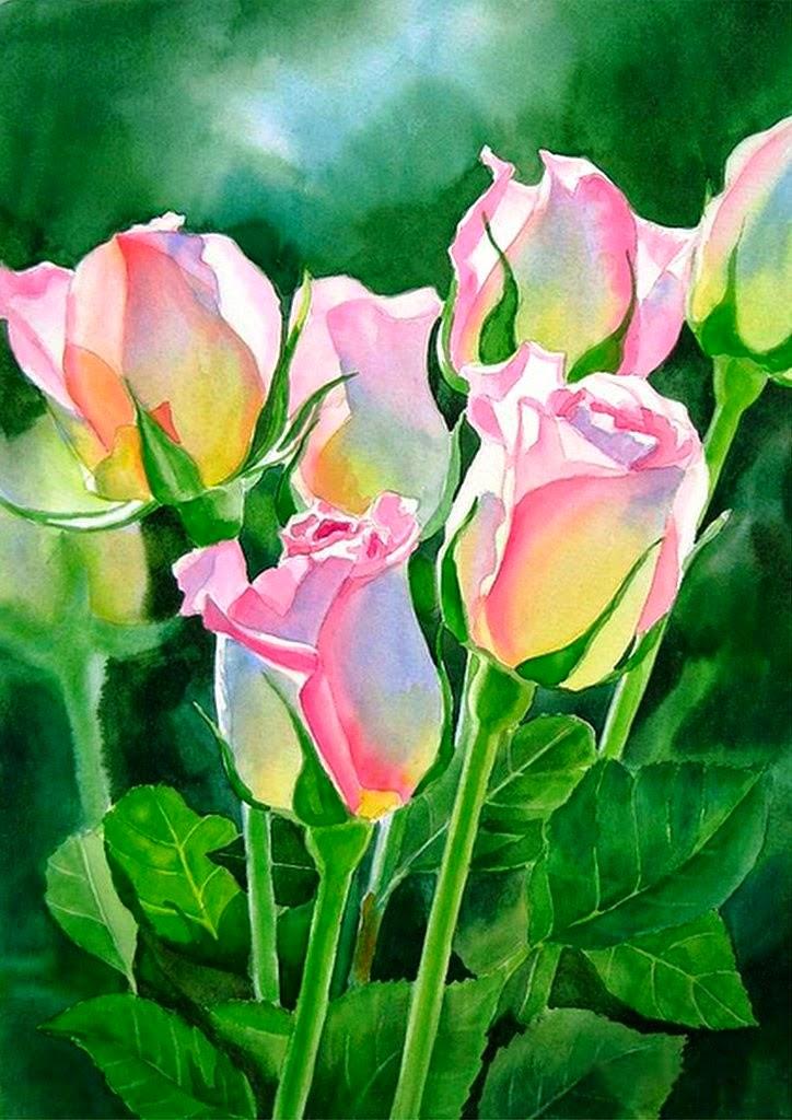flores-acuarelas-en-papel