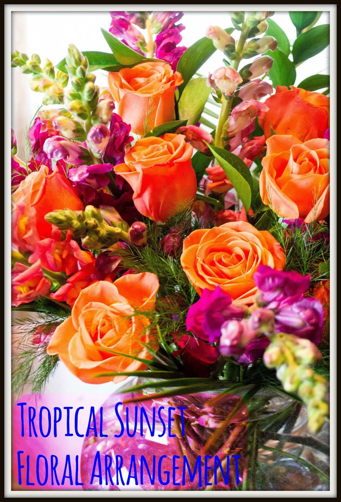 Entertaining Grace: Tropical Sunset Floral Arrangement: Because we ...