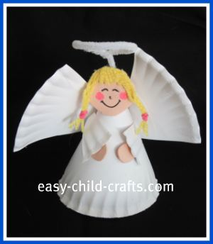 Mrs jackson 39 s class website blog angels christmas crafts for Christmas crafts made out of paper plates