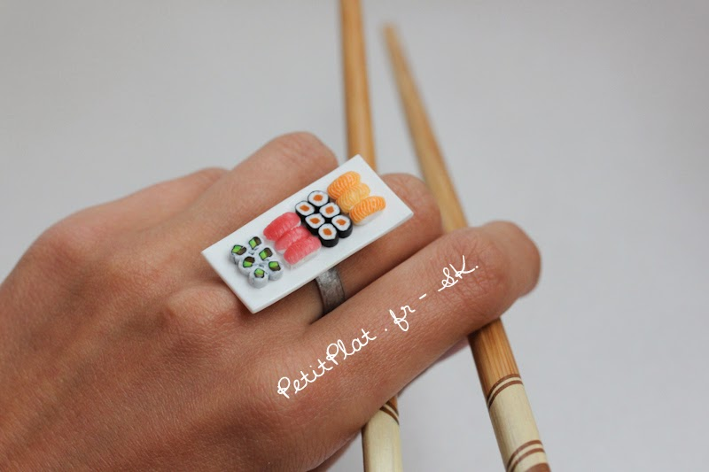 Miniature Sushi Ring / Bague Sushi Miniature - Stephanie Kilgast