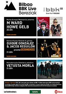 M Ward y Howe Gelb en el Bilbao BBK Live Bereziak en mayo