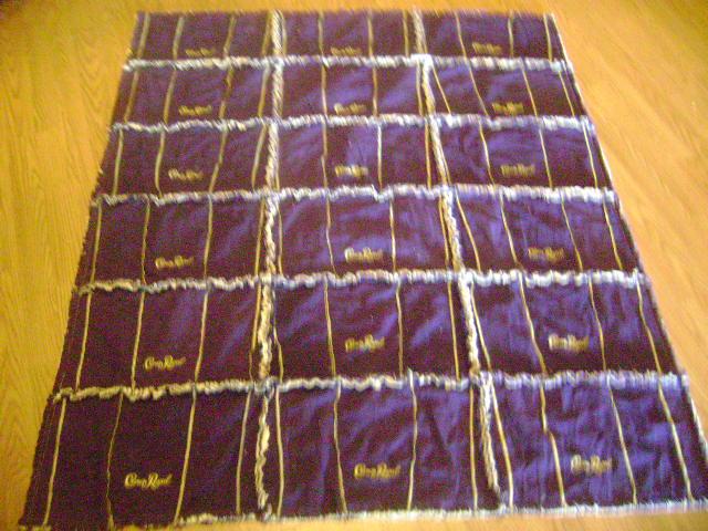 Sewinggrandmalynn Crown Royal Raggy Quilt