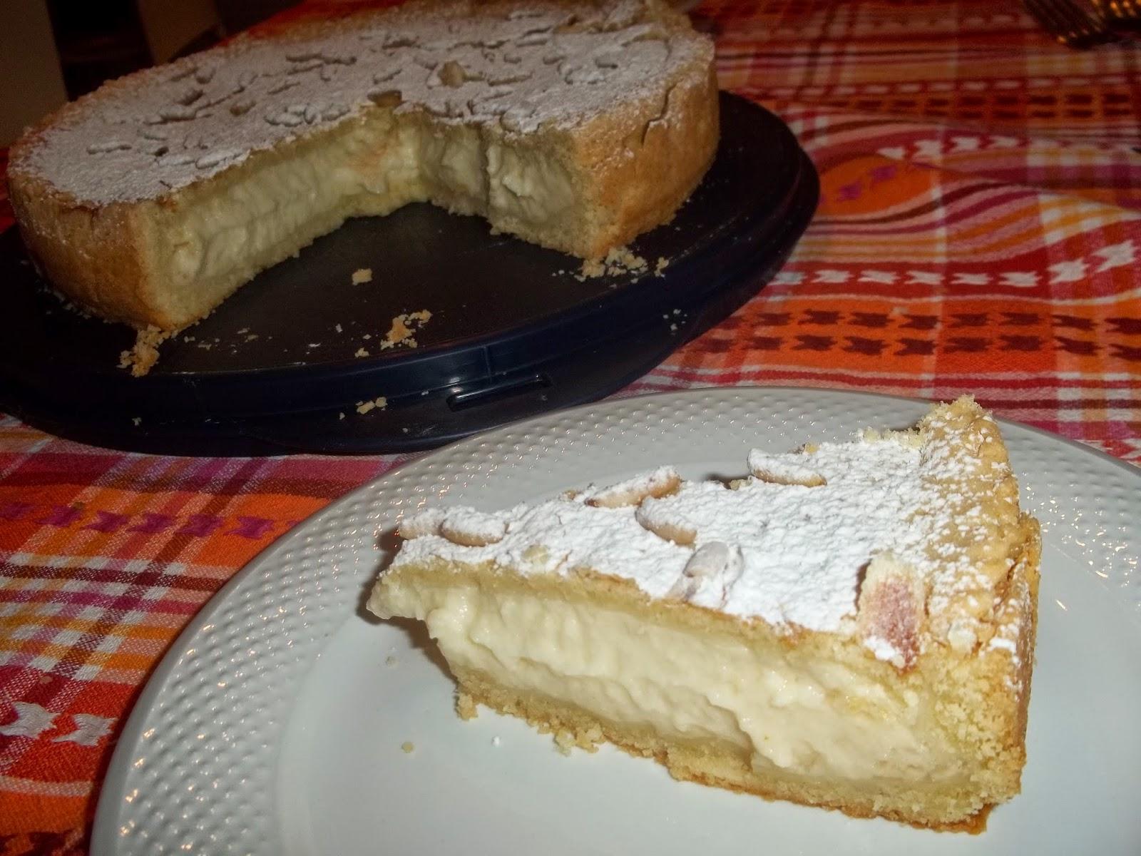 torta della nonna con crema pasticcera al limone
