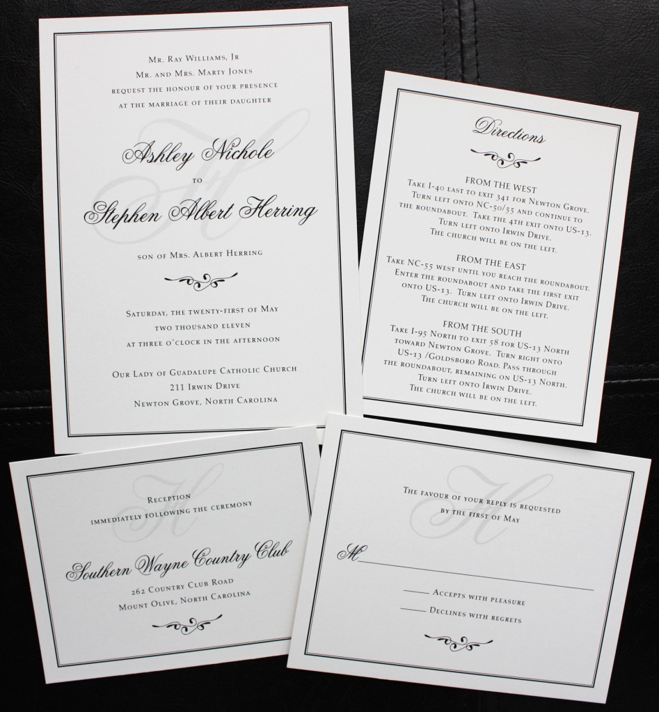 Monogram wedding invitations monogrammed wedding invitations for Wedding engagement party invitations
