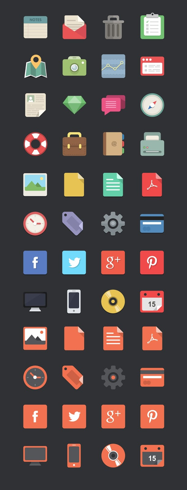 WDD IconsPreview 10 Amazing Free Download Flat Icons PSD