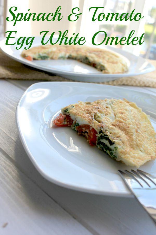 Spinach and Tomato Egg White Omelet #QuakerRealMedleys #ad