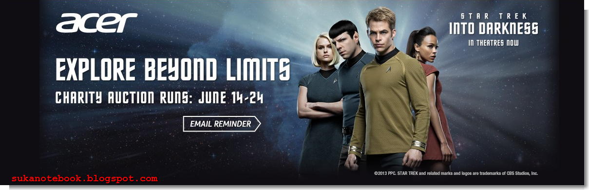 "Acer Aspire R7 ""Star Trek Into Darkness"" Limited Edition siap"