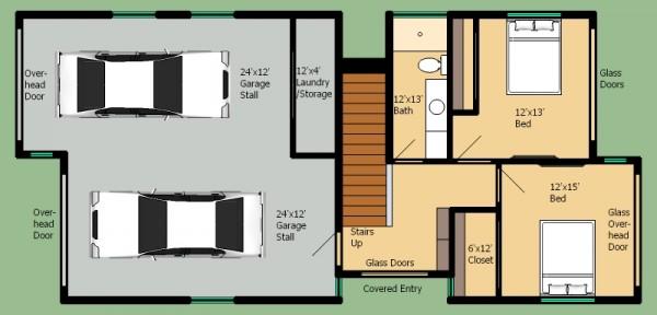 Plano de casa moderna de dos pisos tres dormitorios y 168 - Banos de 2 metros cuadrados ...