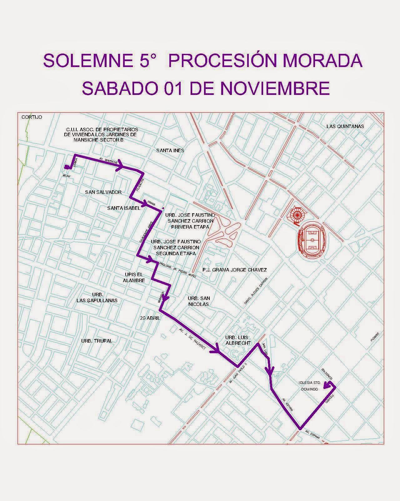 GUARDADA DEL SEÑOR DE LOS  MILAGROS DE TRUJILLO