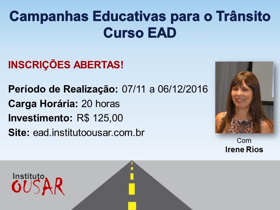 Campanhas Educativas para o Trânsito - Curso EAD