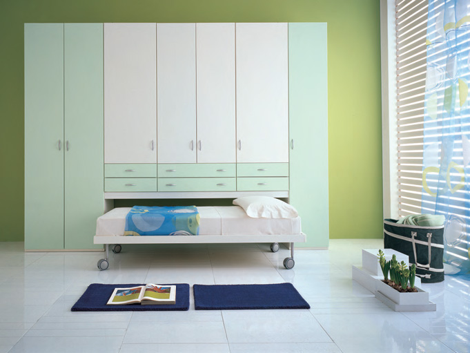 Pull Bed Under Wardrobe, Image