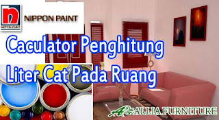 Caculator Penghitung Kebutuhan cat pada ruangan