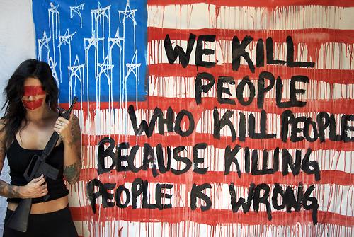 Nosotros matamos gente que mata gente porque matar gente está mal