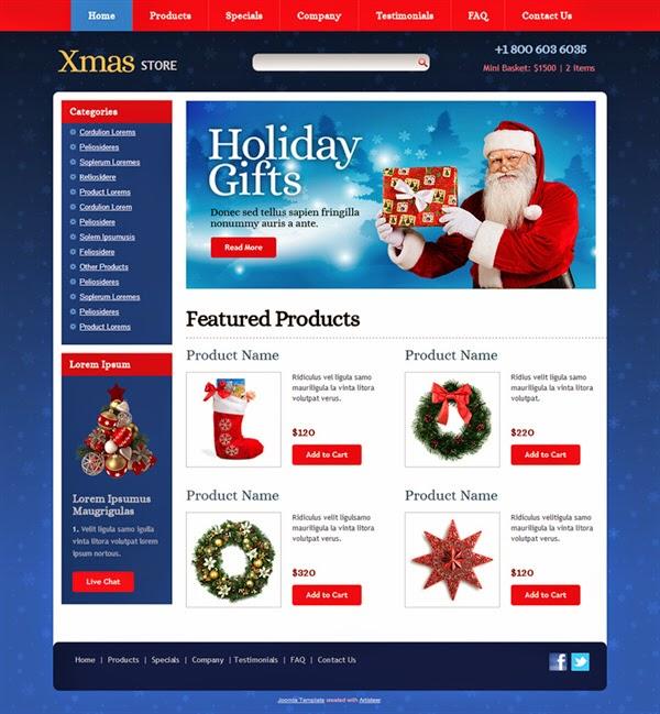Xmas Store - Free Joomla! Template