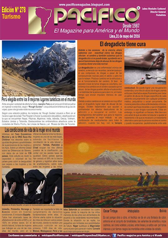 Revista Pacífico Nº 278 Turismo
