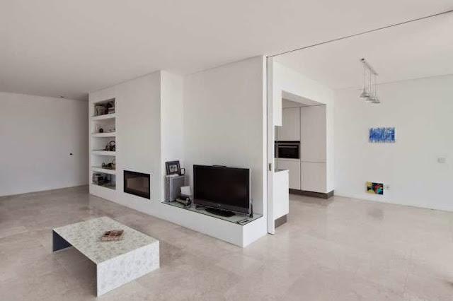 living room interior design Modern House with Pool in Tavira