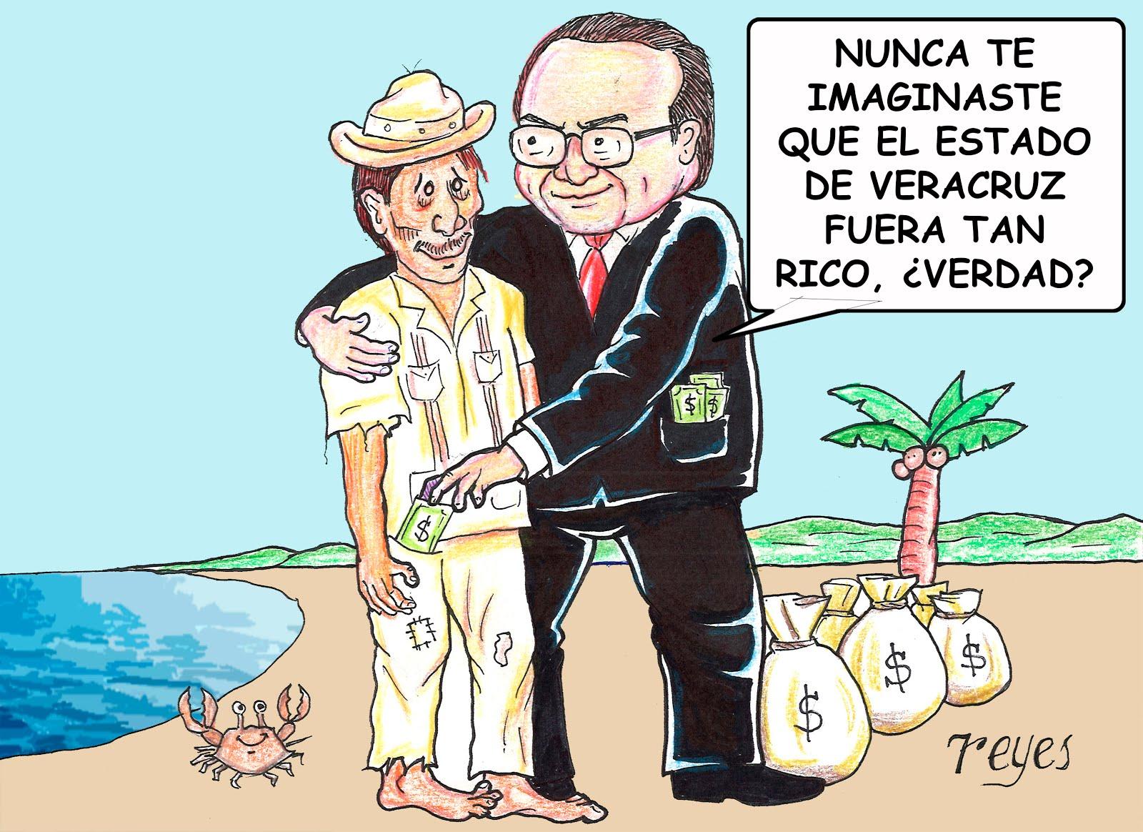 Gobernador rico, estado pobre