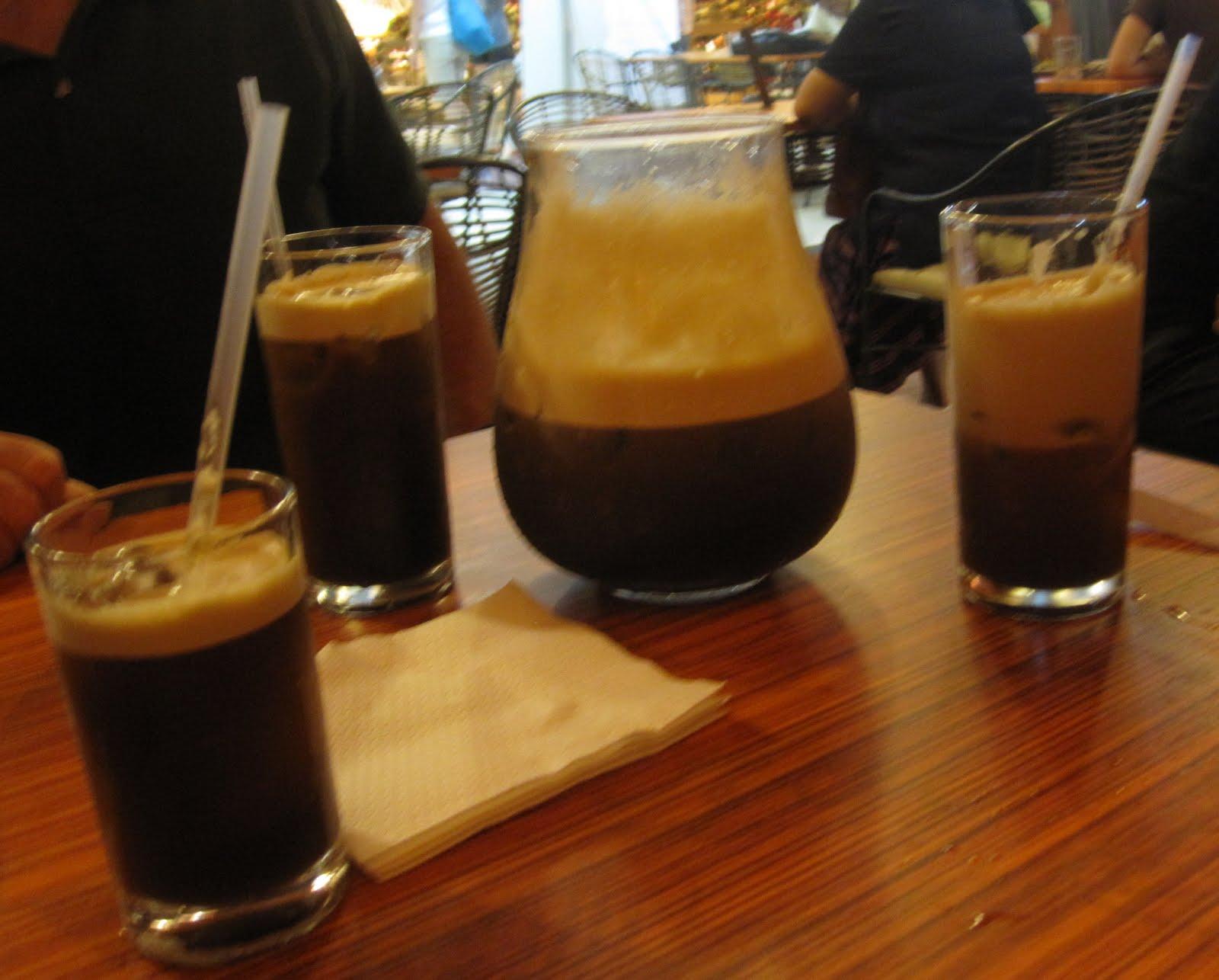 Juice Bar Santol and pandan juices at Midnight Mercato .