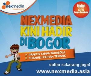 Nexmedia, praktis tanpa antena parabola.