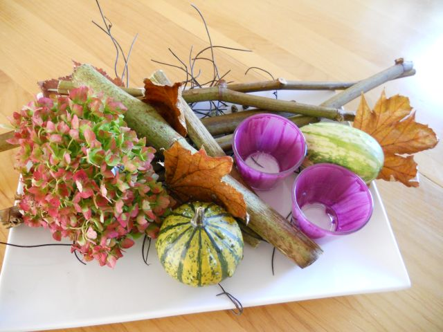 Herbstdeko Hortensien : ... - DEKO - PERLE: Herbstdeko basteln mit ...