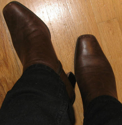rugged brown boots
